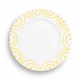Gmundner Keramik Gelbgeflammt Dessertteller / Frühstücksteller Gourmet d: 18 cm / h: 1,8 cm