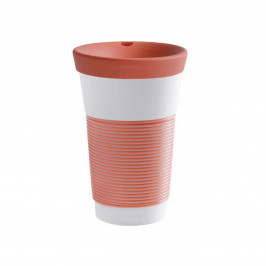 Kahla cupit - Magic Grip coral sunset To Go Becher 0,47 L mit Trinkdeckel 10x2 cm