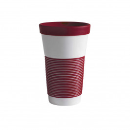 Kahla cupit - Magic Grip dark cherry To Go Becher 0,47 L mit Trinkdeckel 10x2 cm