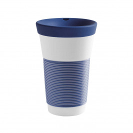 Kahla cupit - Magic Grip deep sea blue To Go Becher 0,47 L mit Trinkdeckel 10x2 cm