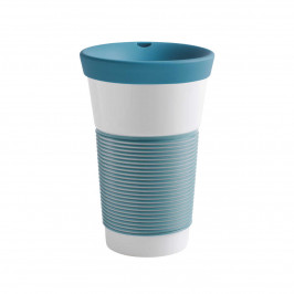 Kahla cupit - Magic Grip green lagoon To Go Becher 0,47 L mit Trinkdeckel 10x2 cm