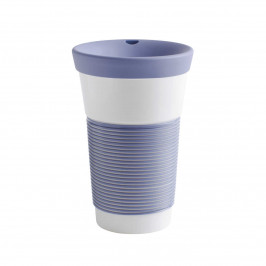 Kahla cupit - Magic Grip stormy blue To Go Becher 0,47 L mit Trinkdeckel 10x2 cm