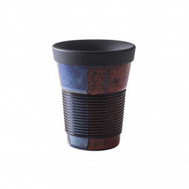 Kahla cupit - Magic Grip soft black & colours of nature To Go Becher 0,35 L mit Trinkdeckel 10x2 cm