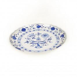 Meissen Zwiebelmuster kobaltblau - weißer Rand Kuchenschale d: 28 cm