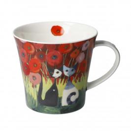 Goebel Rosina Wachtmeister - Wohnaccessoires Coffee Mug / Tea Mug Innamorati tra i papaveri h: 9,5 cm / 0,35 L
