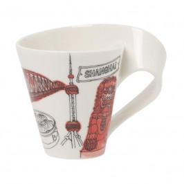 Villeroy & Boch New Wave Caffè Cities of the World - International Becher mit Henkel - Shanghai 0,30 L