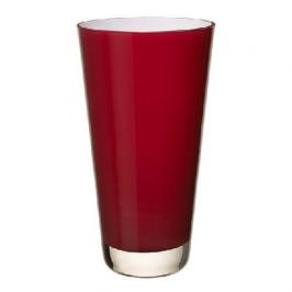 Villeroy & Boch Vasen Verso - Glas mundgeblasen Vase deep cherry 25 cm