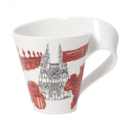 Villeroy & Boch New Wave Caffè Cities of the World - Europa Becher mit Henkel - Bordeaux 0,30 L