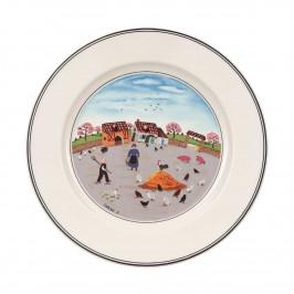 Villeroy & Boch Design Naif Frühstücksteller Hühnerhof 21 cm