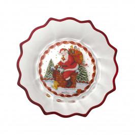 Villeroy & Boch Christmas Glass Accessories Schale klar Santa auf Dach - Kristallglas d: 25 cm / 0,85 L