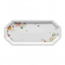 Rosenthal Maria Pink Rose Kuchenplatte rechteckig 36 x 16 cm