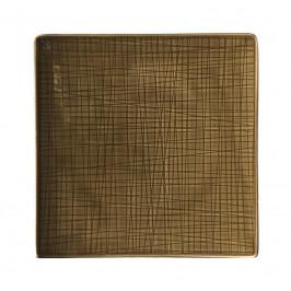 Rosenthal Mesh Walnut Teller quadratisch flach 22 cm