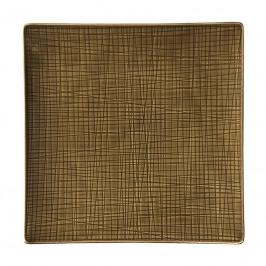 Rosenthal Mesh Walnut Teller quadratisch flach 31 cm