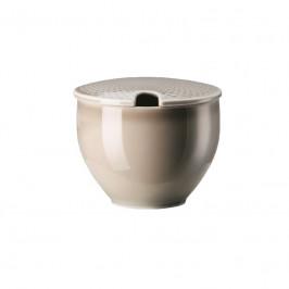 Rosenthal Junto Pearl Grey - Porzellan Zuckerdose 0,28 L
