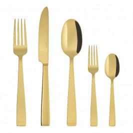 Sambonet Flat - Edelstahl / PVD Gold Besteckset 30-tlg. Vollheft / Monoblock