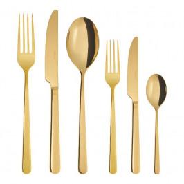 Sambonet Linear - Edelstahl / PVD Gold Besteckset 36-tlg. Vollheft / Monoblock