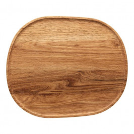 Rosenthal Junto Holz Tablett auf Fuß 35x30 cm / h: 4,5 cm