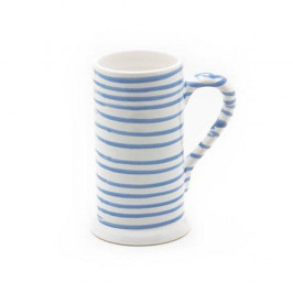 Gmundner Keramik Blaugeflammt Bierkrug Form-A 0,5 L / h: 17 cm
