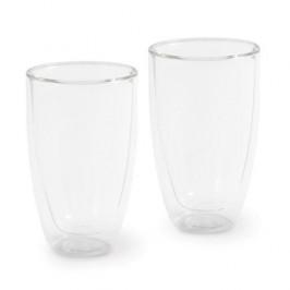 Kahla Café Sommelier Weiß Latte Macchiato doppelwand Glas Set 2-tlg. 0,25 L