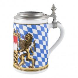 Seltmann Weiden Compact Bayern Bierkrug mit Deckel 0,75 L