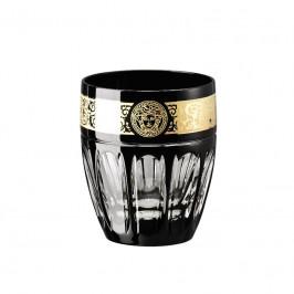 Rosenthal Versace Gala Prestige - Black Medusa Whisky Becher Glas 0,32 L / h: 9,5 cm