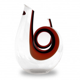 Riedel Glas Dekanter Curly Edition rot/schwarz 1400 ccm