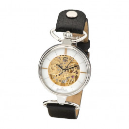 Rosenthal Watch-Collection Armbanduhr 'Skeleton' silver-skeleton-black