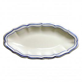 Gien 'Filets Bleus' Beilage 26,5 x 13,2 cm