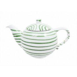 Gmundner Keramik Grüngeflammt Teekanne glatt 1,5 L / h: 16,5 cm