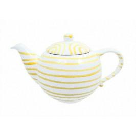 Gmundner Keramik Gelbgeflammt Teekanne glatt 1,5 L / h: 16,5 cm
