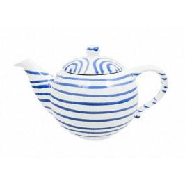 Gmundner Keramik Blaugeflammt Teekanne glatt 1,5 L / h: 16,5 cm