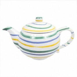 Gmundner Keramik Buntgeflammt Teekanne glatt 1,5 l