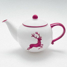 Gmundner Keramik Bordeauxroter Hirsch Teekanne glatt 1,5 L / h: 16,5 cm