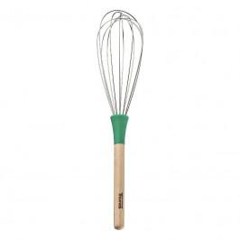 Thomas Kitchen Schneebesen grün Silikon / Buche 27 cm