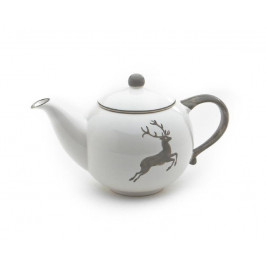 Gmundner Keramik Grauer Hirsch Teekanne glatt 0,5 L / h: 12 cm