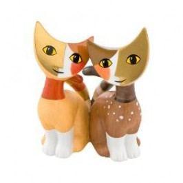 Goebel Rosina Wachtmeister - Minikatzen Decorative figurine little kitties 'Tazio e Ilva' h: 8 cm