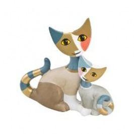 Goebel Rosina Wachtmeister - Minikatzen Decorative figurine little kitties 'Cosma e Icaro' h: 8 cm