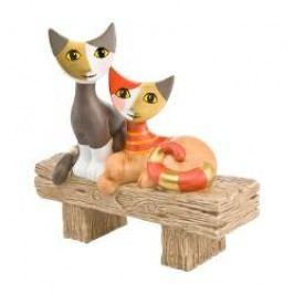 Goebel Rosina Wachtmeister Katzenleben Decorative figurine Cats 'Bella vista' h: 11.5 cm