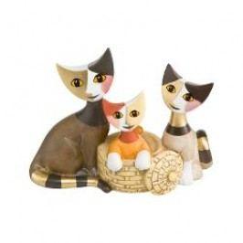 Goebel Rosina Wachtmeister Katzenleben Decorative figurine Cats 'Desiderio del cuore' h: 8.5 cm