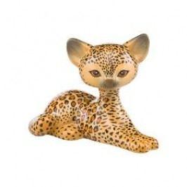 Goebel Kitty de luxe - Animal Kitties Decorative figurine 'Leopard kitty relaxing' h: 10.5 cm