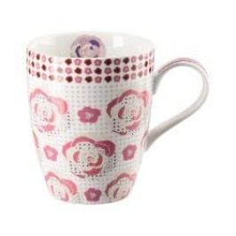 Hutschenreuther Lots of dots collection - Pink Cup with handle 'Pink meadow' 0.30 l