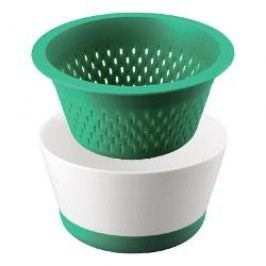 Thomas Kitchen Bowl + sieve and silicon footing color: green 2.5 l / 2 pcs