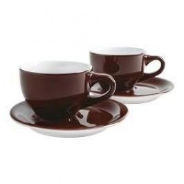 Kahla Café Sommelier chocolate brown Cappuccino International Cups Set 4 pcs 0,23 L / h: 6,9 cm