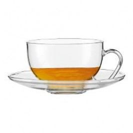Jenaer Glas Tea Tea cup 'Relax' 0.36 l + glass saucer 2 pcs