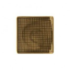 Rosenthal Selection Mesh Walnut Plate flat square 9 cm