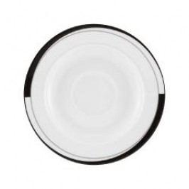 Friesland La Belle Black & White Coffee Saucer 15.5 cm