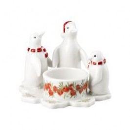 Hutschenreuther Winterromantik - Leuchter & Kerzen Tea Light Holder - Group of Penguins