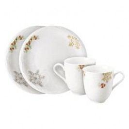 Hutschenreuther Winterromantik Set of Mug with Handle and Plate 4 pcs, 22 cm