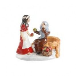 Villeroy & Boch Fairytale Park Decorative figurine 'Snow White scene' with tea light holder 12x10x10 cm
