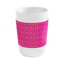 Kahla Five Senses touch Herzmotive Maxi Mug '100 Hearts' colour: magenta, 0.35 L